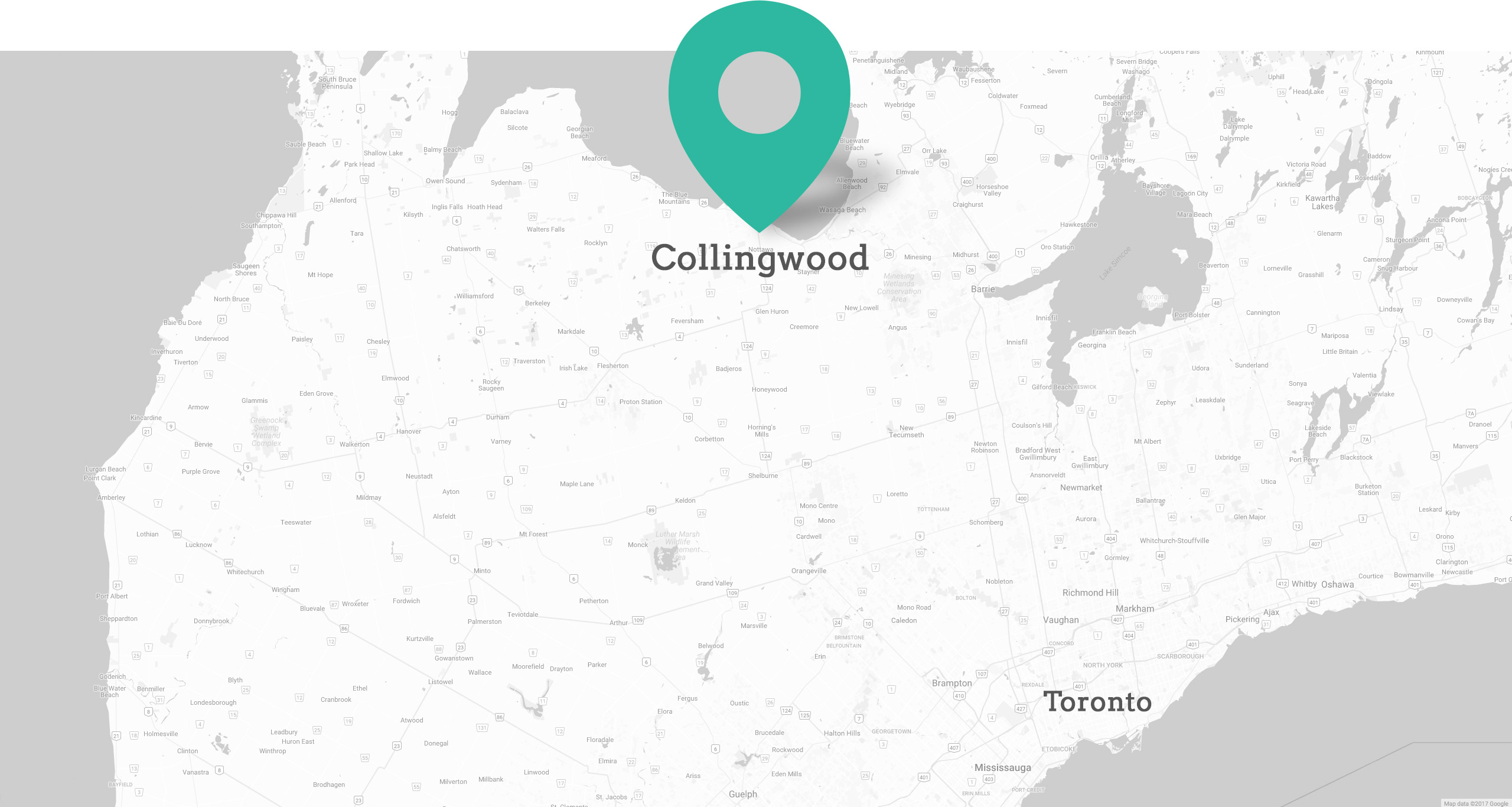 Collingwood location map